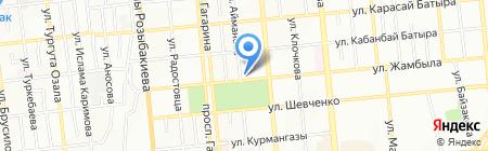 На Джамбула на карте Алматы