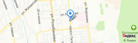 Лагманхана на Гагарина на карте Алматы