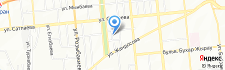 Акат на карте Алматы