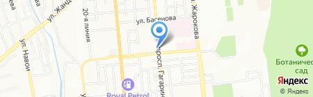 Овощной магазин на проспекте Гагарина на карте Алматы