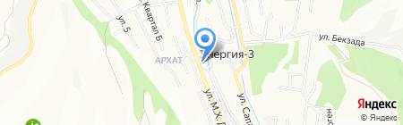 Айнура на карте Алматы