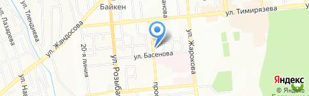 Гюльчатай на карте Алматы