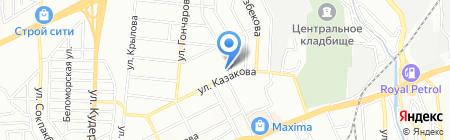 Шеру на карте Алматы