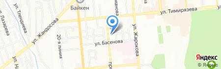 Фунтик на карте Алматы