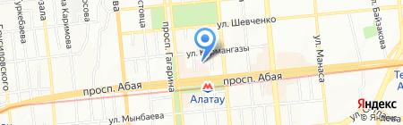 Кенес на карте Алматы