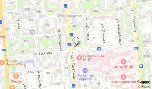 Аптека. Схема проезда в Алматы