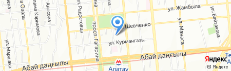 Детский сад №10 на карте Алматы