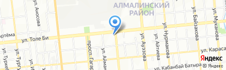 Францу на карте Алматы
