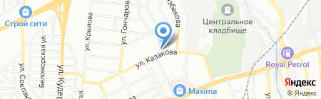 Алматинский колледж учета и права на карте Алматы