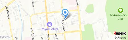 Шиномонтажная мастерская на проспекте Гагарина на карте Алматы