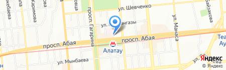 Оптикор на карте Алматы