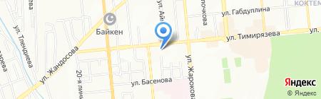 Каракат на карте Алматы