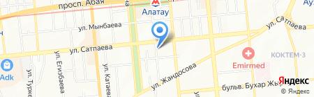 Айкын на карте Алматы