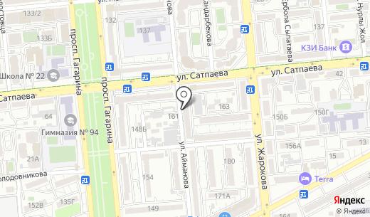 Айкын. Схема проезда в Алматы