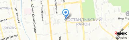Нотариус Мусаева М.Ф. на карте Алматы
