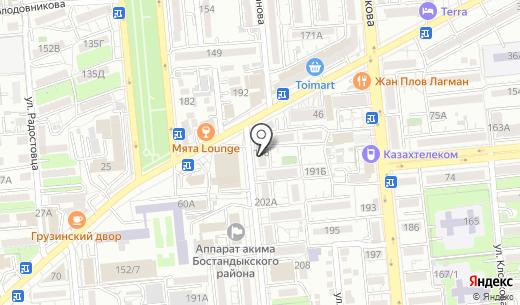 E-STOM. Схема проезда в Алматы
