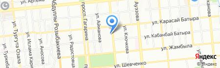 Пункт ремонта обуви на ул. Жарокова на карте Алматы