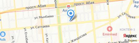 Аксай Инвест на карте Алматы