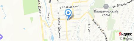 Продовольственный магазин на ул. Утегенова на карте Алатау