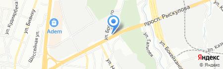 Успение на карте Алматы