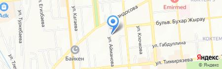 Нотариус Абдразакова С.К. на карте Алматы