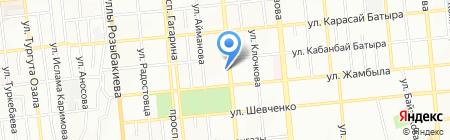 Каусар на карте Алматы