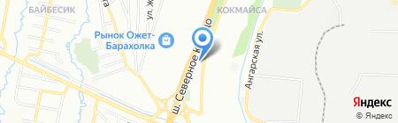 Автостоянка №7 на карте Алматы