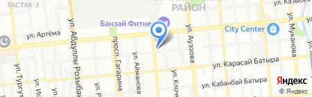 Акмарал на карте Алматы