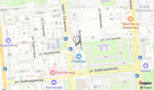 Шынай. Схема проезда в Алматы