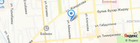 ЕвроКапитал Тревел на карте Алматы