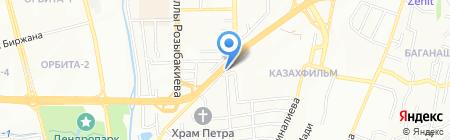 Аль-Фараби на карте Алматы