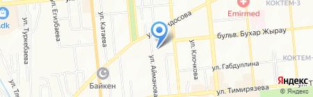 Перец на карте Алматы