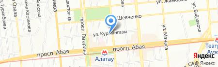 ТАН на карте Алматы