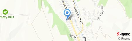 Халожак на карте Алматы