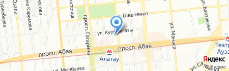 Нотариус Аверин В.Ю. на карте Алматы