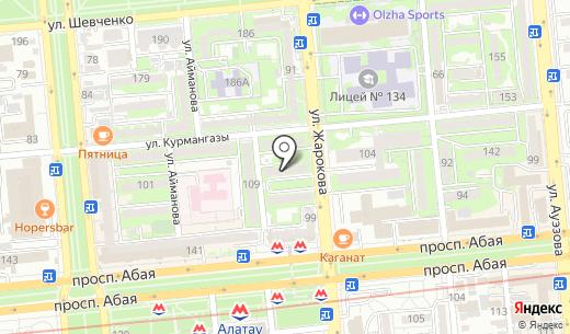 Phaeton Tour. Схема проезда в Алматы