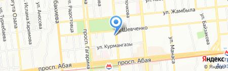 Almaline интернет-провайдер на карте Алматы