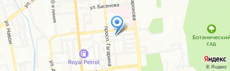 Айголек на карте Алматы