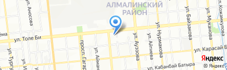 Масло-дел на карте Алматы