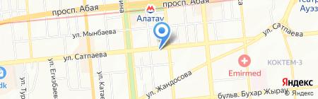 Эстедент на карте Алматы