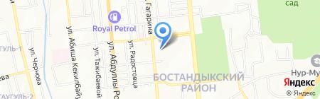 Столовая на проспекте Гагарина на карте Алматы