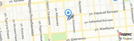 Нотариус Султанбеков Е.Т. на карте Алматы