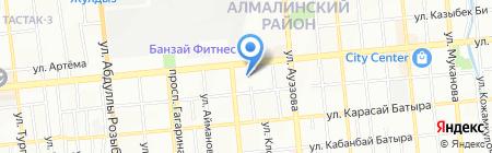 Томирис на карте Алматы