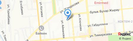 Русская Банька на дровах на карте Алматы