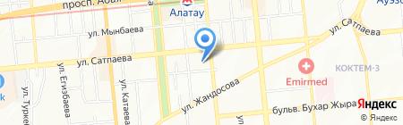 Ханум на карте Алматы