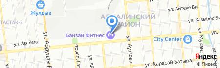 ЖанАвто на карте Алматы