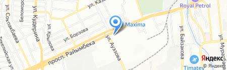 Гостиница на проспекте Райымбека на карте Алматы