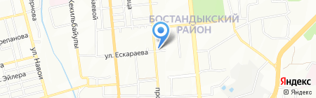Алимпиев на карте Алматы