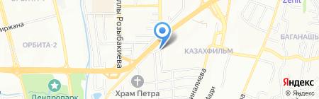 Акмарал продовольственный магазин на карте Алматы