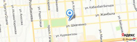 Банк ЦентрКредит на карте Алматы